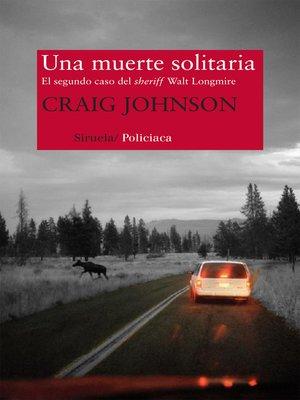 cover image of Una muerte solitaria