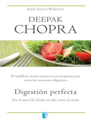 cover image of Digestión perfecta (Colección Salud Perfecta)