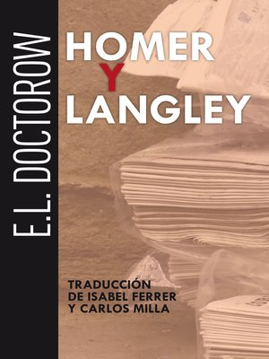 cover image of Homer y Langley