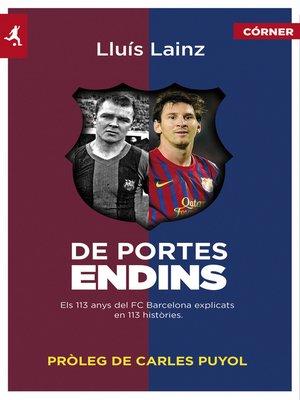 cover image of De portes endins