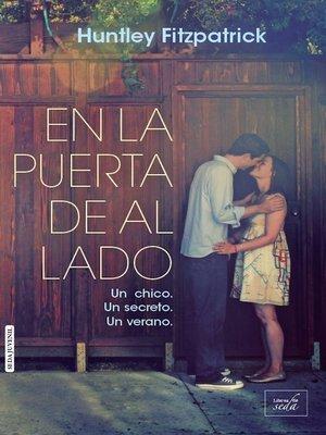 cover image of En la puerta de al lado