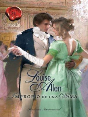 cover image of Impropio de una dama