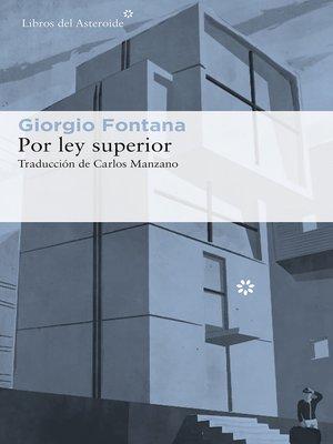 cover image of Por ley superior