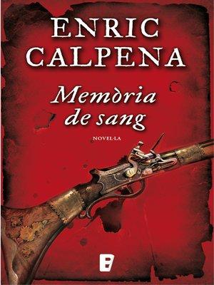 cover image of Memòria de sang