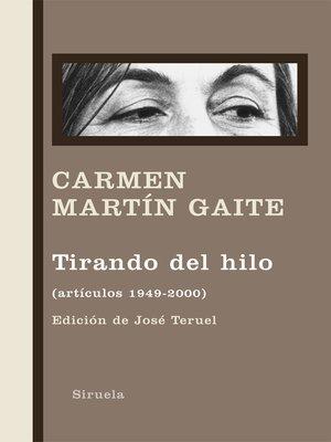 cover image of Tirando del hilo