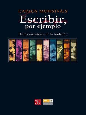 cover image of Escribir por ejemplo