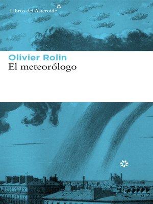 cover image of El meteorólogo