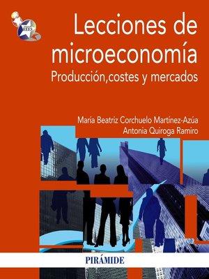 cover image of Lecciones de microeconomía