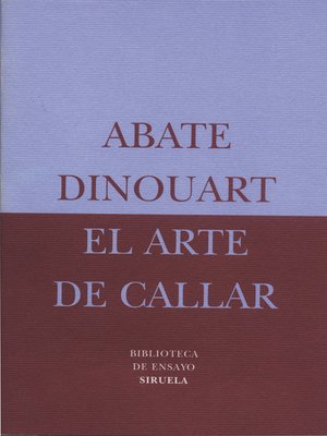 cover image of El arte de callar