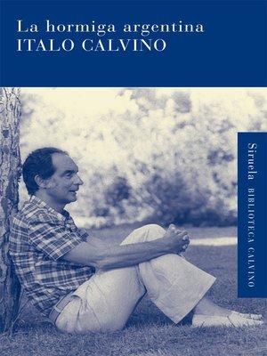 cover image of La hormiga argentina