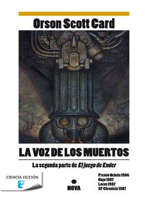 cover image of La voz de los muertos (Saga de Ender 2)