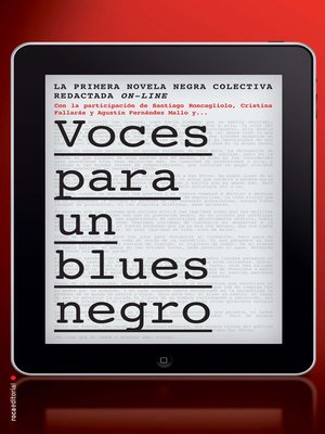 cover image of Voces para un blues negro