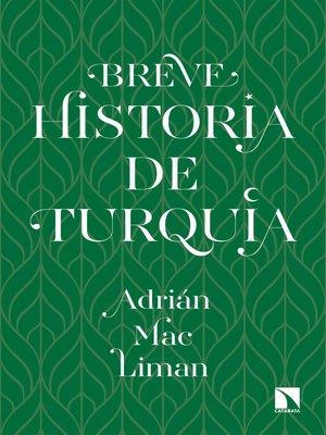cover image of Breve historia de Turquía
