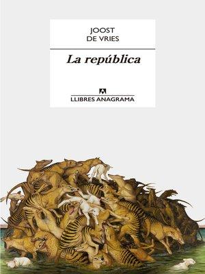 cover image of La república