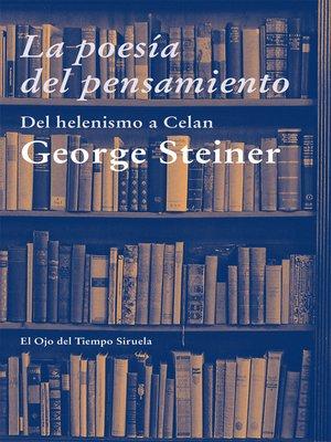 cover image of La poesía del pensamiento