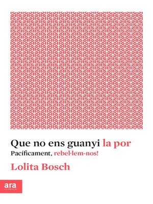 cover image of Que no ens guanyi la por