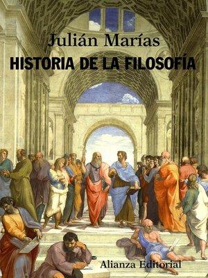 cover image of Historia de la filosofía