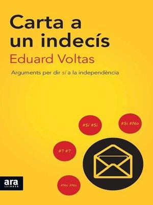 cover image of Carta a un indecís