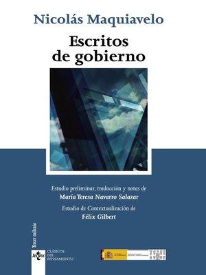 cover image of Escritos de Gobierno