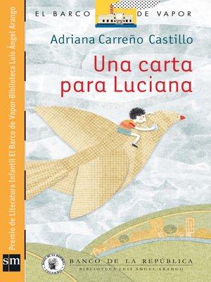 cover image of Una carta para Luciana