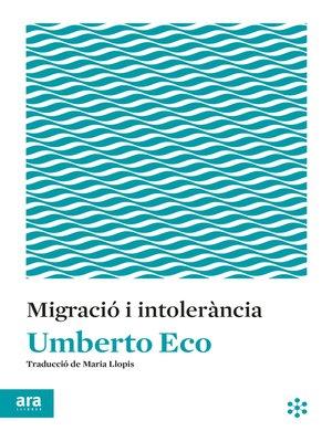 cover image of Migració i intolerància