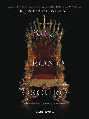 cover image of Un trono oscuro