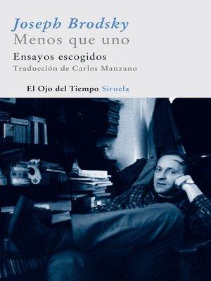 cover image of Menos que uno