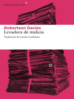 cover image of Levadura de malicia