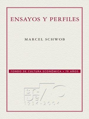 cover image of Ensayos y perfiles