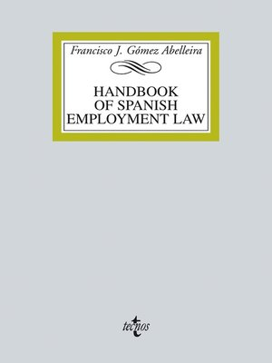 cover image of Handbook on spanish employment law