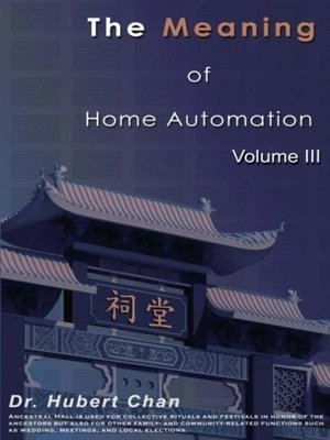 cover image of The Meaning of Home Automation (Volume III)