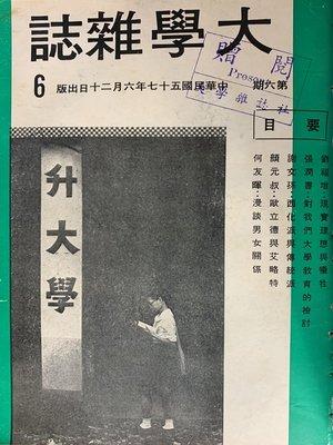 cover image of 《大學雜誌》第6期(民國57年6月)