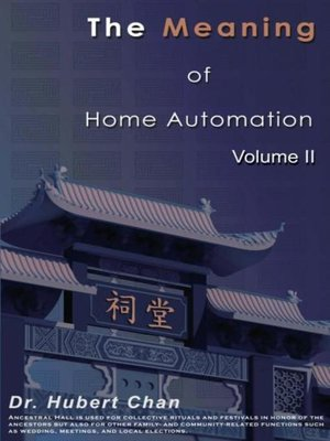 cover image of The Meaning of Home Automation (Volume II)