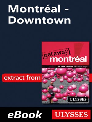 cover image of Montréal--Downtown