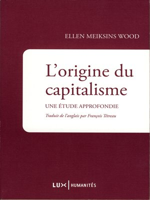 cover image of L'origine du capitalisme