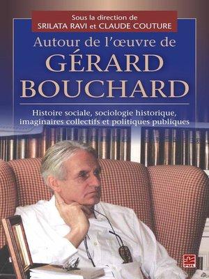 cover image of Autour de l'oeuvre de Gérard Bouchard