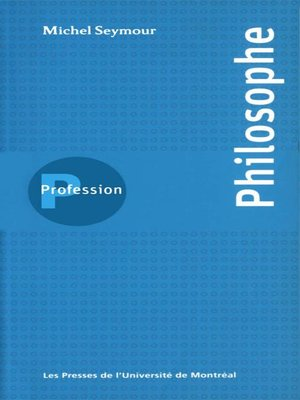 cover image of Profession philosophe