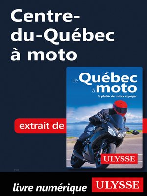 cover image of Centre-du-Québec à moto