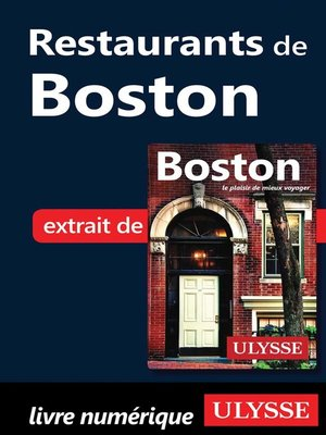cover image of Restaurants de Boston