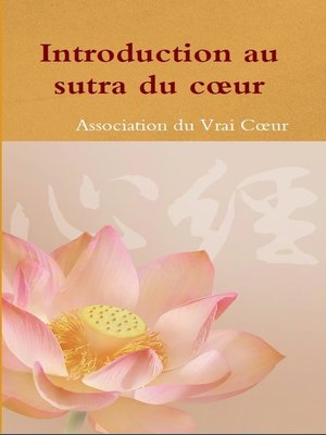 cover image of Introduction au sutra du cœur