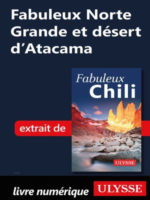 cover image of Fabuleux Norte Grande et désert d'Atacama (Chili)