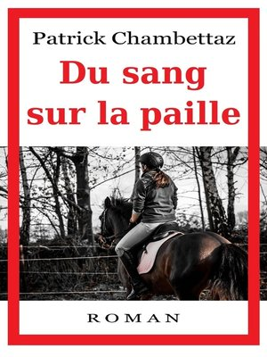 cover image of Du sang sur la paille