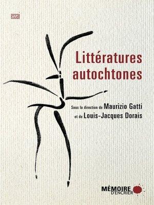 cover image of Littératures autochtones