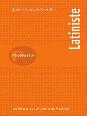 cover image of Profession latiniste