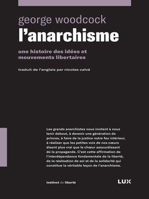 cover image of L'anarchisme