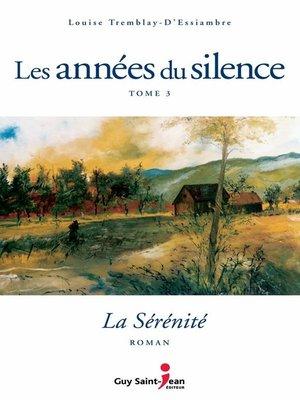 cover image of La sérénité