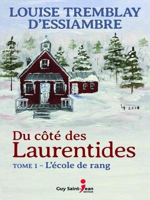 cover image of Du côté des Laurentides, tome 1