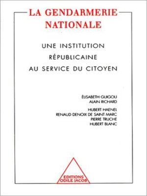 cover image of La Gendarmerie nationale