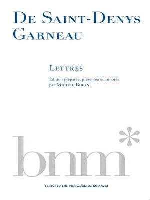 cover image of De Saint-Denys Garneau