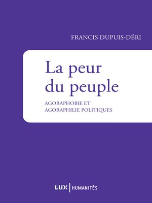 cover image of La peur du peuple